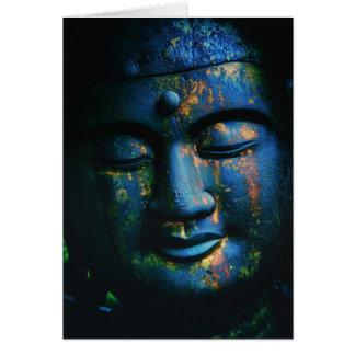 Paix bleue de Bouddha OM Cartes De Vœux