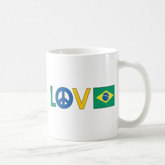 Paix Brésil d'amour Mug Blanc