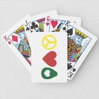 Paix, cartes de jeu d'avocat d'amour jeu de cartes