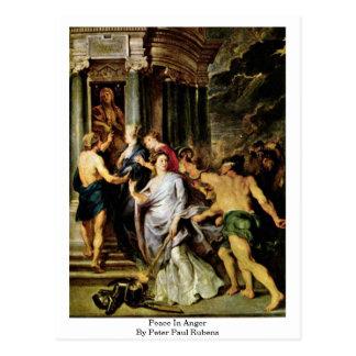 Paix dans la colère par Peter Paul Rubens Carte Postale