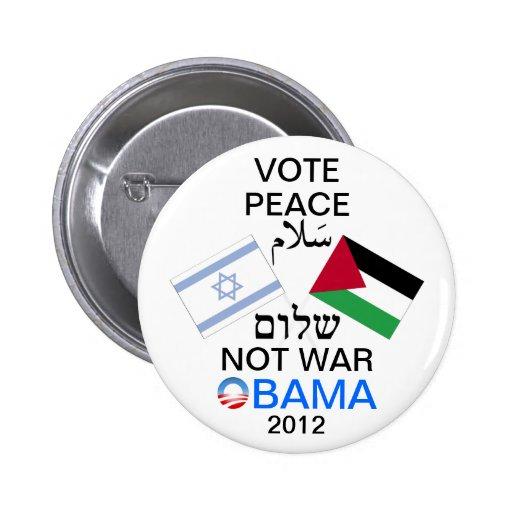 Paix dans le bouton de Moyen-Orient Obama Badge Avec Épingle