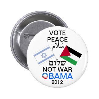 Paix dans le bouton de Moyen-Orient Obama Badge Rond 5 Cm