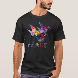 Paix d'arc-en-ciel - voler de trois grues t-shirt