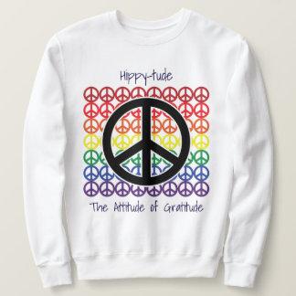 Paix de Hippytude sur l'attitude de paix de la Sweatshirt