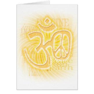 Paix d'ohm carte de vœux