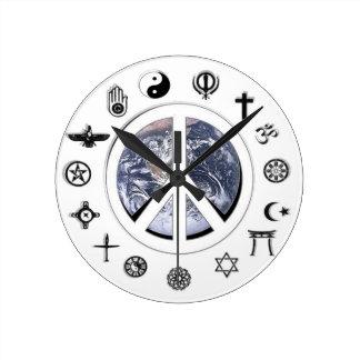 Paix du monde horloges murales