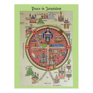 Paix en carte postale de Jérusalem