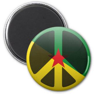 Paix en Guyane française française Magnets