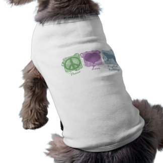 Paix en pastel, amour, et bouledogues anglais t-shirt pour chien