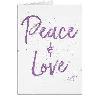 Paix-et-Amour-Pourpre Carte De Vœux