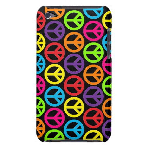 Paix multicolore personnalisable coques iPod touch