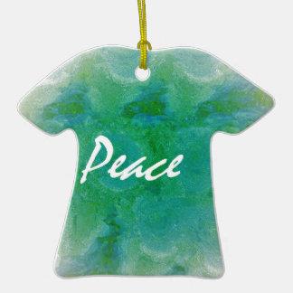 Paix Ornement T-shirt En Céramique