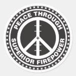 Paix par la puissance de feu supérieure autocollants