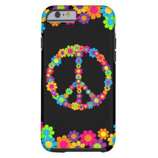 Paix personnalisable de flower power de bruit coque iPhone 6 tough