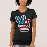 Paix pour la chemise de l'Amérique T-shirt