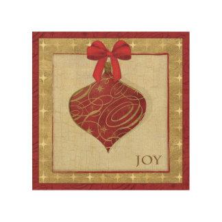 Paix rouge de décoration de Noël