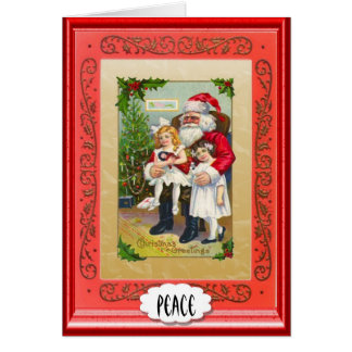 Paix - salutation de Noël - les petites aides de P Carte De Vœux