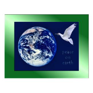 Paix sur des cartes postales de la terre