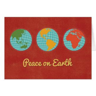 Paix sur des visions mondiales de la Terre-Trois Carte De Vœux