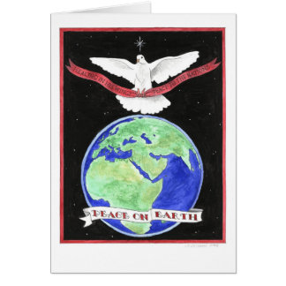 Paix sur la carte de Noël de la terre