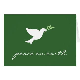 Paix sur la carte de vacances de la terre