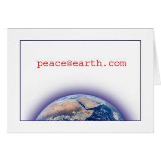 Paix sur la carte de vacances de Noël de la terre