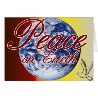 Paix sur la carte de voeux de la terre