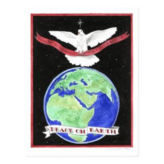 Paix sur la carte postale inspirée de la terre