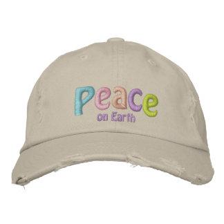 Paix sur la citation de la terre, hippie et anti casquette brodée
