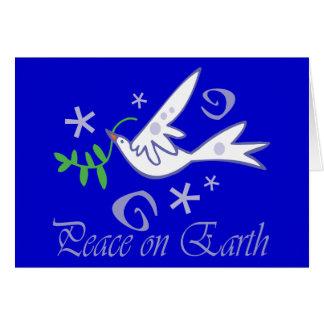 Paix sur la colombe de la terre carte de vœux