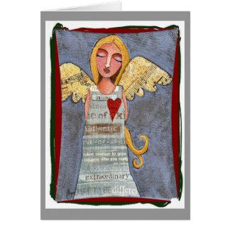 Paix sur l'ange de la terre - carte de Noël