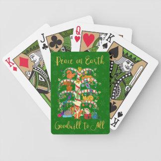 Paix sur l'arbre animal de la terre des vacances jeu de cartes