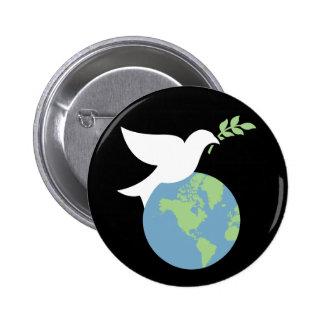 Paix sur le bouton de la terre badge rond 5 cm