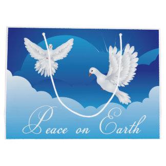 Paix sur le sac de cadeau de Noël de la terre