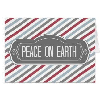 Paix sur terre carte de vœux