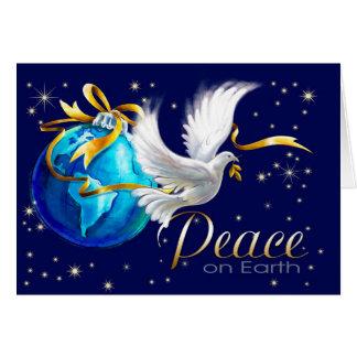 Paix sur terre. Cartes de Noël personnalisables