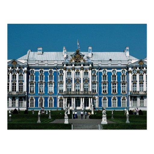 Palais de Catherine à Pushkin, St Petersbourg, Rus Carte Postale