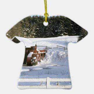 Palais de corporations Vermont de roue d'eau Ornement T-shirt En Céramique