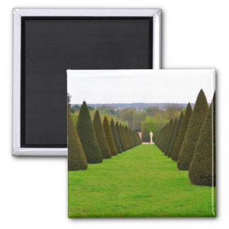Palais de jardin de Versailles en Île-De-France Magnet Carré