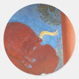 Palais de Minoan de Knossos RED BULL Sticker Rond