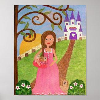 Palais de Puppytales - chien 8x10 et princesse Posters