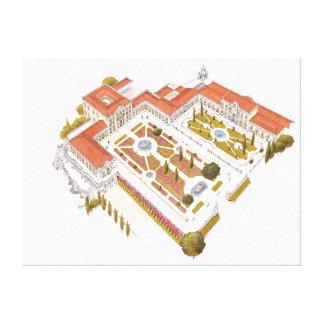 Palais de ressortissant de Queluz. Lisbonne Toiles