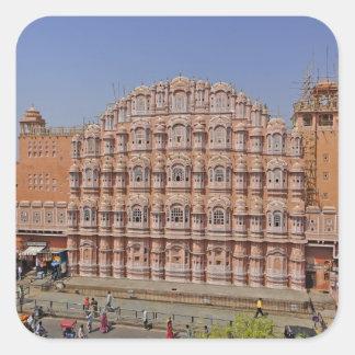 Palais des vents (Hawa Mahal), Jaipur, Inde, Sticker Carré