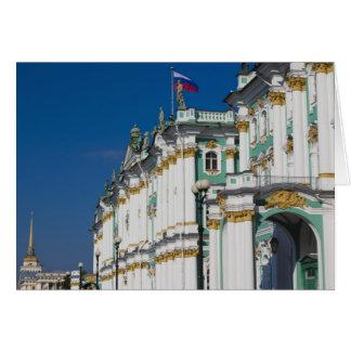 Palais d'hiver et musée d'ermitage carte de vœux