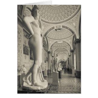 Palais d'hiver, musée d'ermitage, galerie 2 de carte de vœux