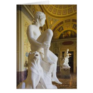 Palais d'hiver, musée d'ermitage, galerie de carte de vœux