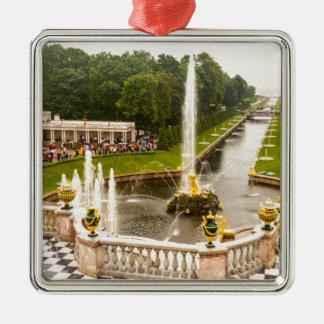 Palais et jardins St Petersburg Russie de Peterhof Ornement Carré Argenté