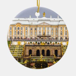 Palais et jardins St Petersburg Russie de Peterhof Ornement Rond En Céramique