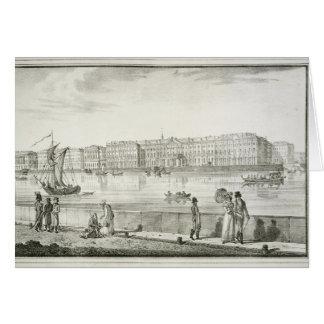 Palais impérial d'hiver, St Petersburg (litho) Carte De Vœux