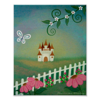 Palais paisible - 8x10 princesse Castle Kids Art Posters